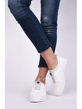Pantofi Dama Sport Cu Siret Elastic Mysterious Albi-2