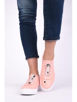 Pantofi Dama Sport Cu Siret Elastic Mysterious Roz-2
