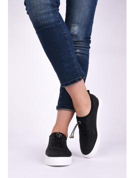 Pantofi Dama Sport Cu Siret Elastic Mysterious Negri-2