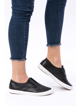 Pantofi Dama Sport Cu Elastic Running Negri-2