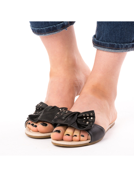 Papuci Dama Cu Tinte Clean Negri-2