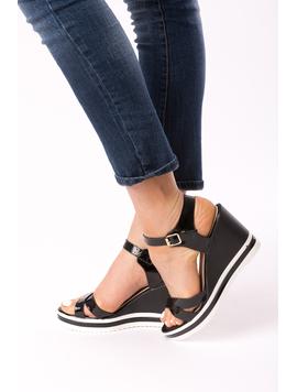 Sandale Dama Cu Platforma Fify Negre