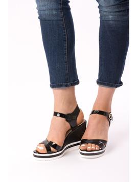 Sandale Dama Cu Platforma Fify Negre-2