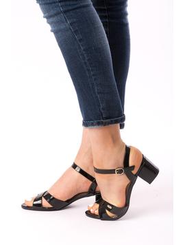 Sandale Dama Cu Toc Mic Xoxo Negre