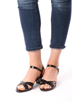 Sandale Dama Cu Toc Mic Xoxo Negre-2