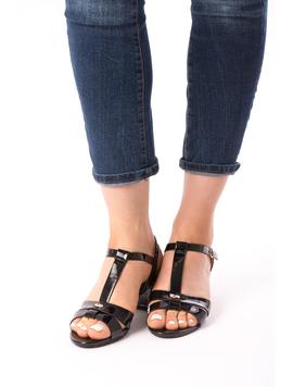 Sandale Dama Cu Toc Mic Julia Negre-2