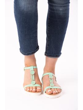 Sandale Dama Lacuite Roxanne Turcoaz