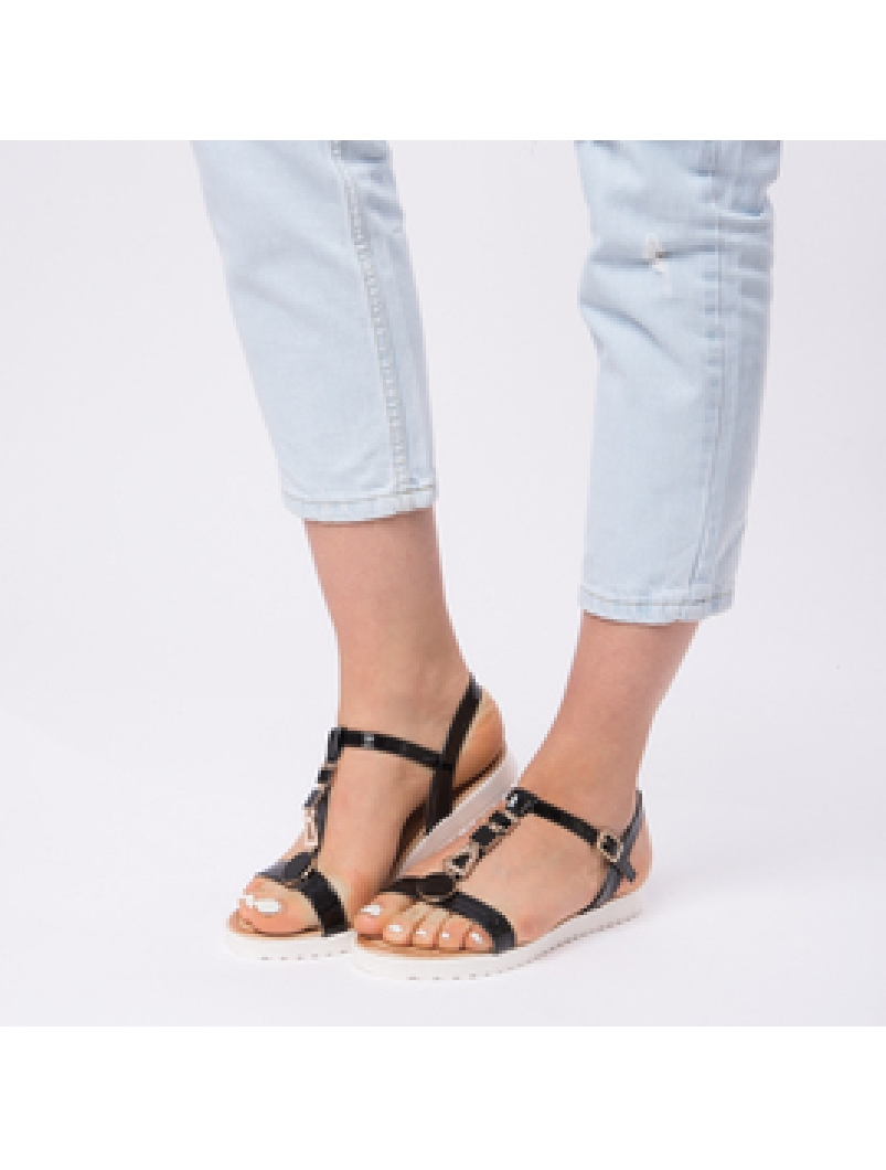 Sandale Dama Lacuite Veronica Negre