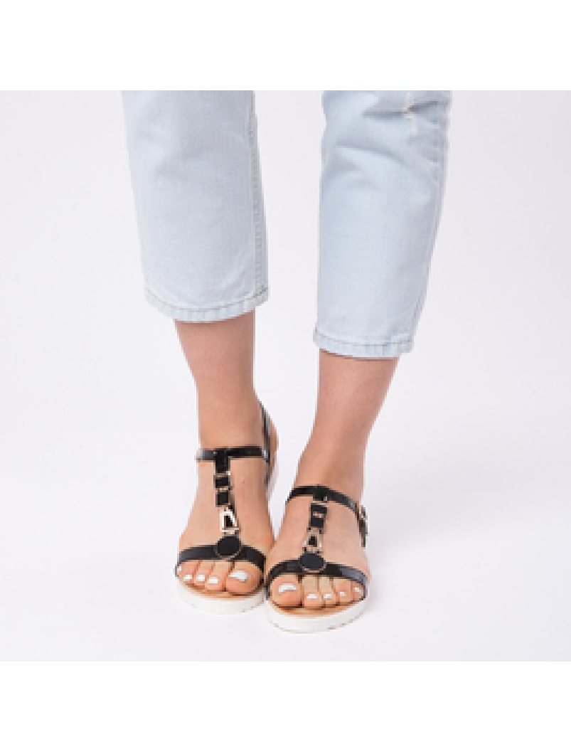 Sandale Dama Lacuite Veronica Negre-2