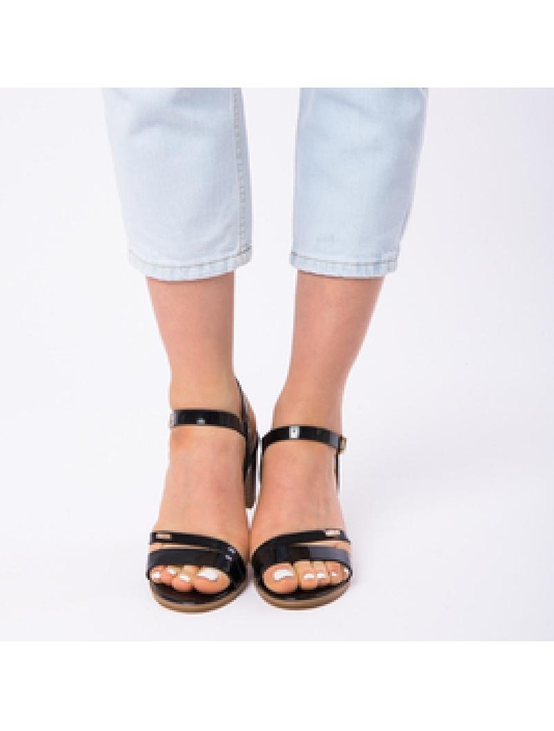 Sandale Dama Cu Toc Mic Sarah Negre-2