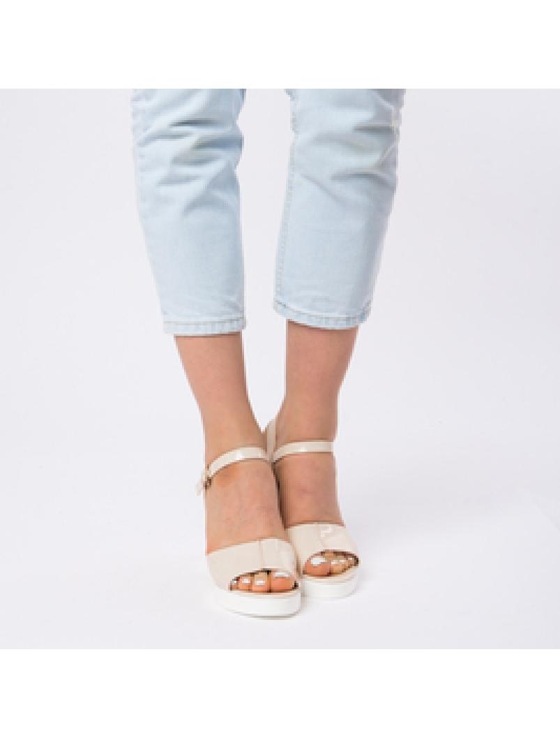 Sandale Dama Lacuite Brianna Bej-2