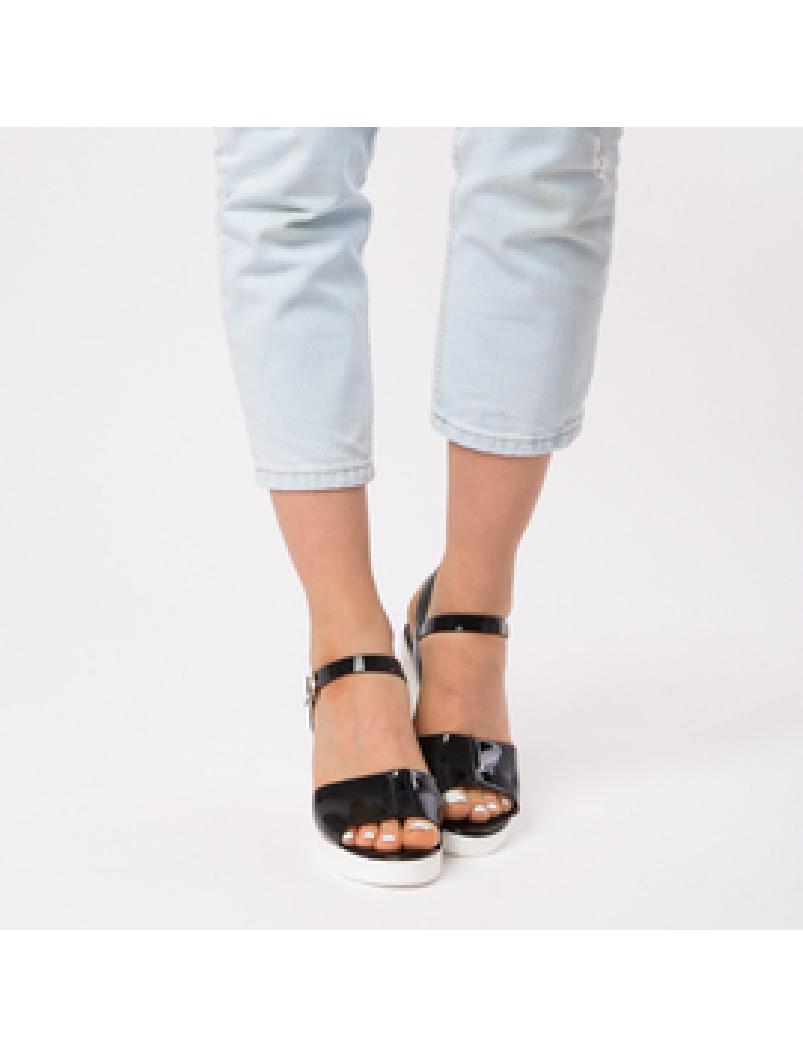Sandale Dama Lacuite Brianna Negre-2