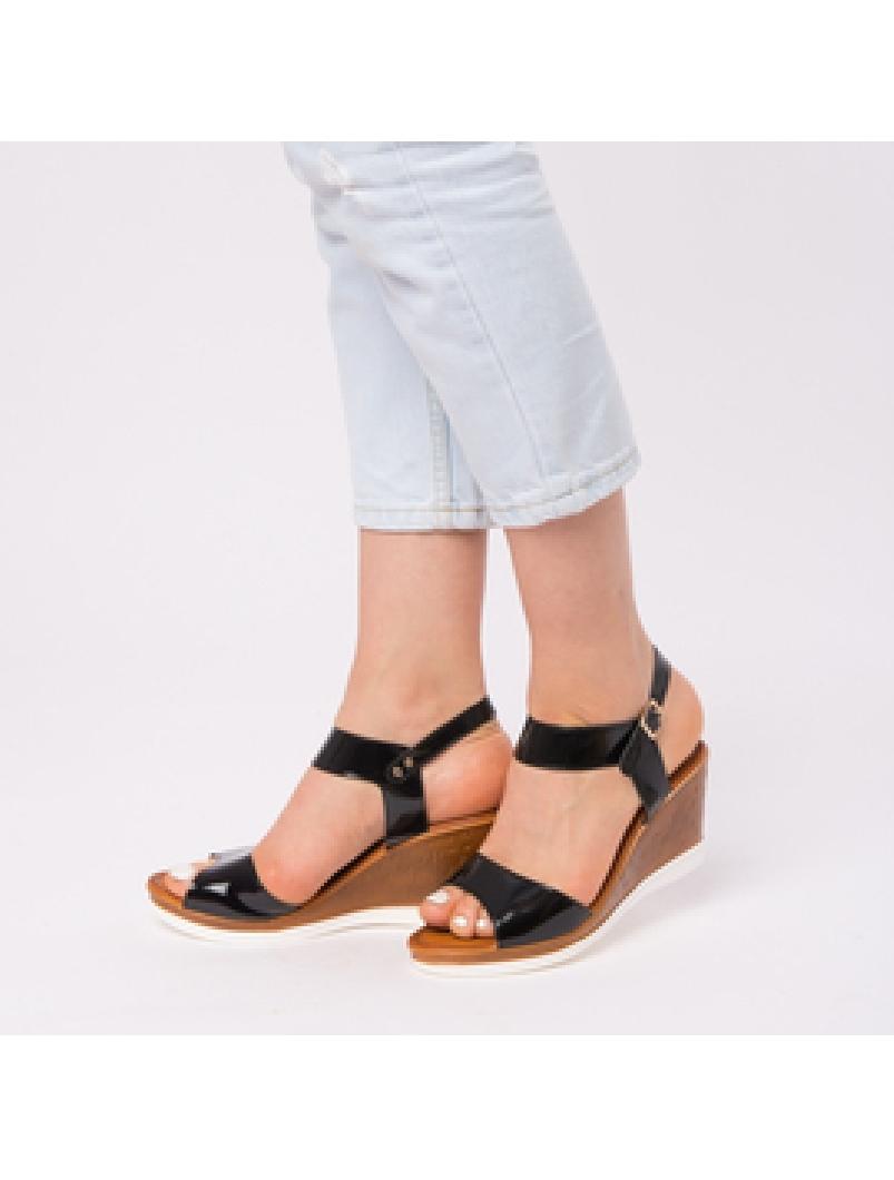 Sandale Dama Lacuite Gina Negre