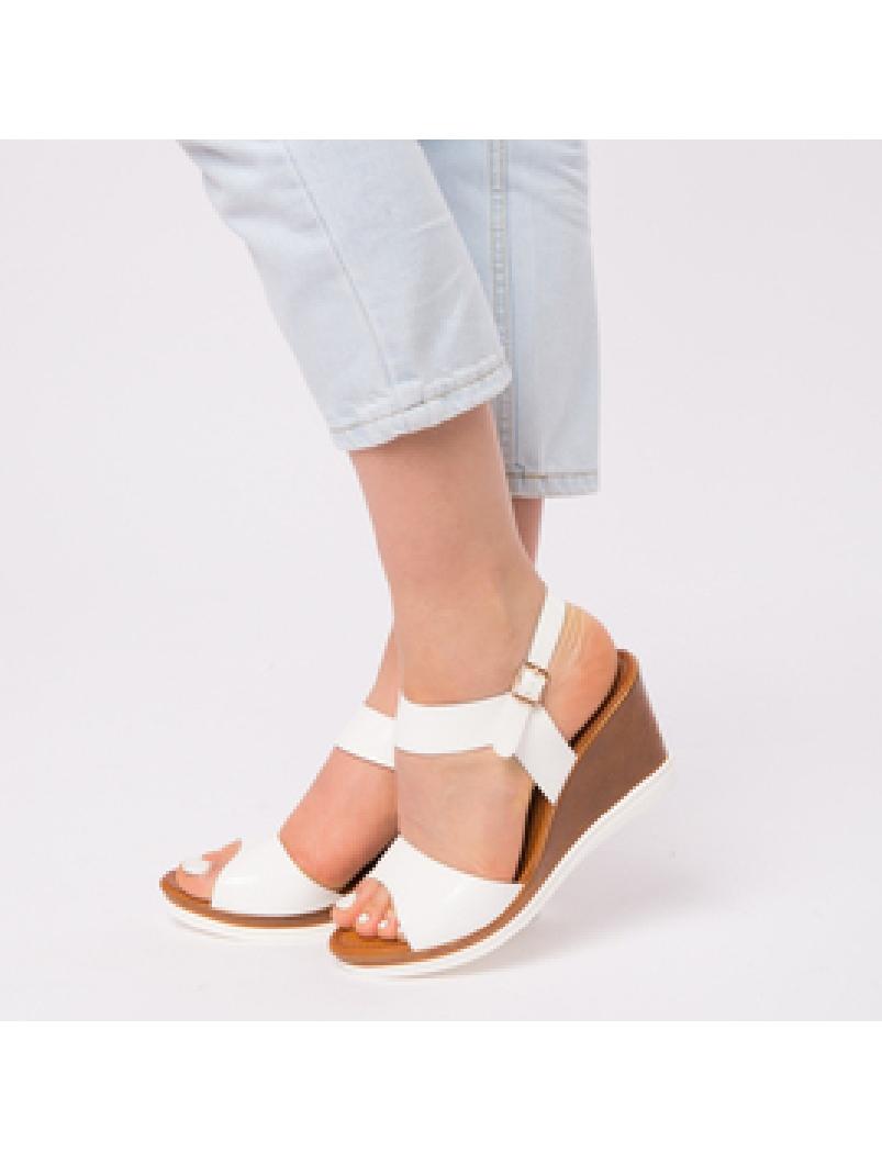 Sandale Dama Lacuite Gina Albe