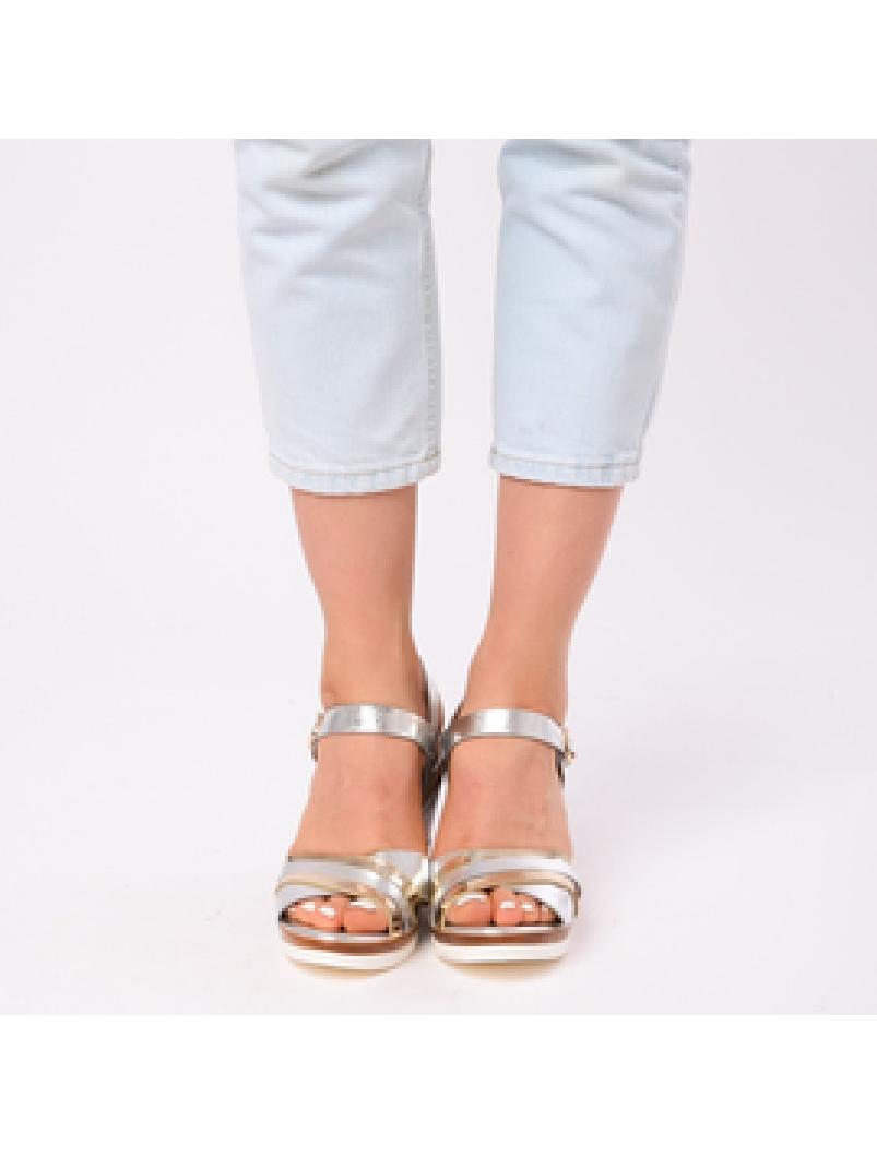 Sandale Dama Cu Platforma Amelia Argintii-2