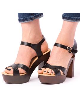 Sandale Dama Cu Toc Mare Jules Negre-2
