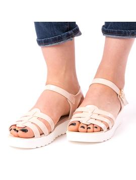 Sandale Dama Satisfaction Bej-2
