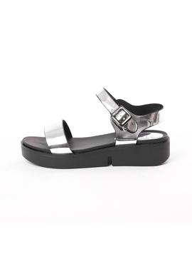 Sandale Dama Lucioase Sand Argintii