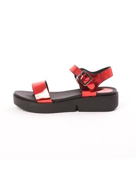 Sandale Dama Lucioase Sand Rosii
