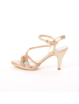Sandale Dama Cu Toc Why Aurii