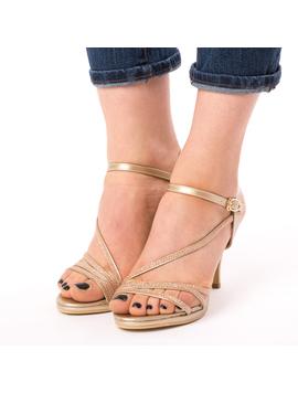 Sandale Dama Cu Toc Why Aurii-2