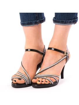 Sandale Dama Cu Toc Why Negre-2