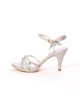 Sandale Dama Cu Toc Wonder Why Argintii