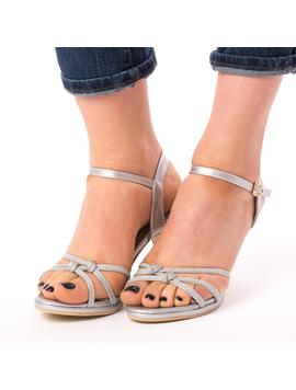 Sandale Dama Cu Toc Wonder Why Argintii-2