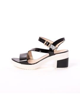 Sandale Dama Cu Toc Bussy Negre