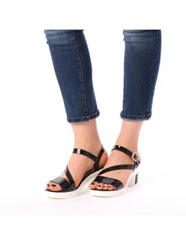 Sandale Dama Cu Toc Bussy Negre-2