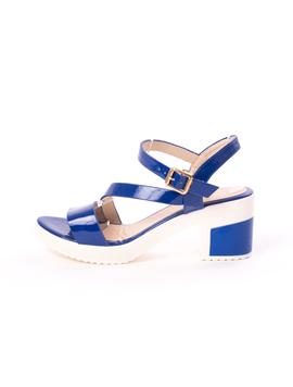 Sandale Dama Cu Toc Bussy Albastre