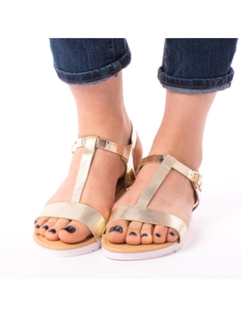 Sandale Dama Elliot Aurii-2