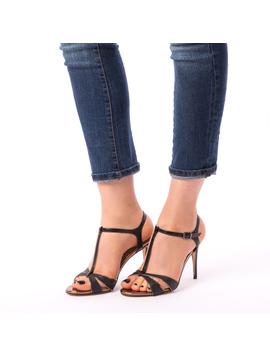 Sandale Dama Cu Toc Sunny Negre-2