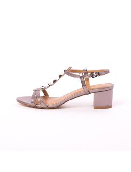 Sandale Dama Cu Toc Gros Mira Cenusii