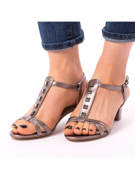 Sandale Dama Cu Toc Gros Mira Cenusii-2