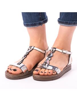 Sandale Dama Trend Argintii-2