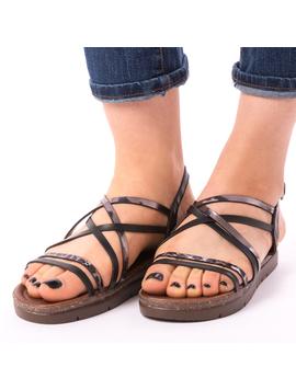 Sandale Dama Flexa Negre-2