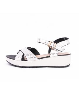Sandale Dama Talpa Groasa Confy Albe