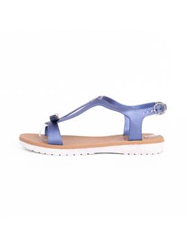Sandale Dama BestNight Albastru Sidefat-2
