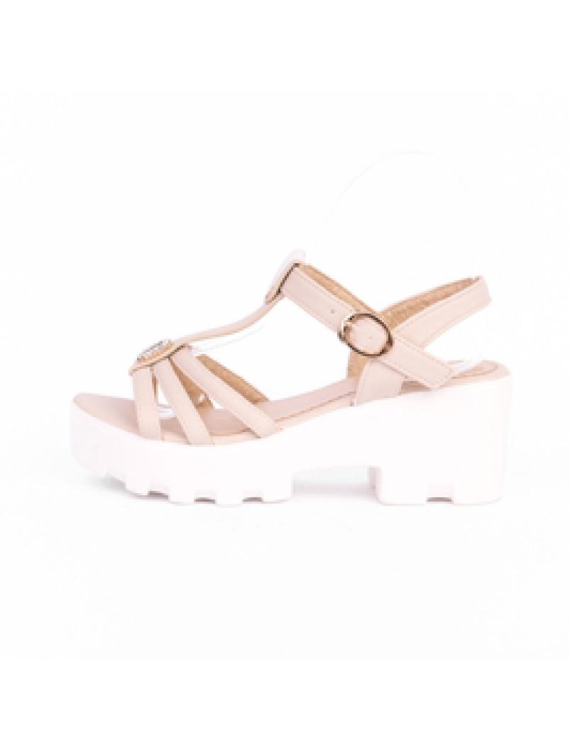 Sandale Dama Cu Talpa Inalta Glow Bej-2