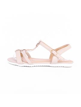 Sandale Dama Cu Barete Si Strasuri Lisa Bej-2