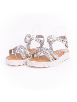 Sandale Dama Cu Sclipici Glamour Silver-2