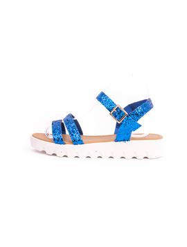 Sandale Dama Cu Sclipici Glamour Albastru-2
