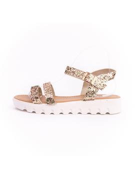 Sandale Dama Cu Sclipici Glamour Auriu-2