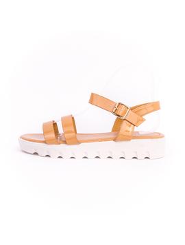 Sandale Dama Cu Platforma Kara Camel-2