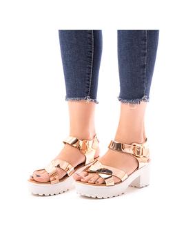 Sandale Dama Cu Barete incrucisate Diana Bronz