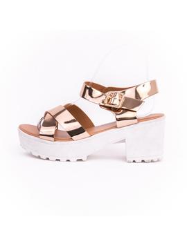 Sandale Dama Cu Barete incrucisate Diana Bronz-2