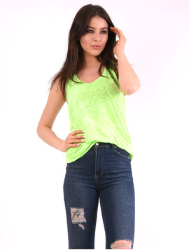 Top Dama Basic Cu Model Sincere Verde