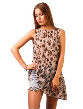 Top Voal Leopard Power Grey-2