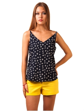 Top Dama Live To Party Navy&White-2